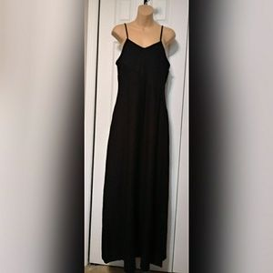 Mossimo Black Strappy Maxi Dress SZ Large